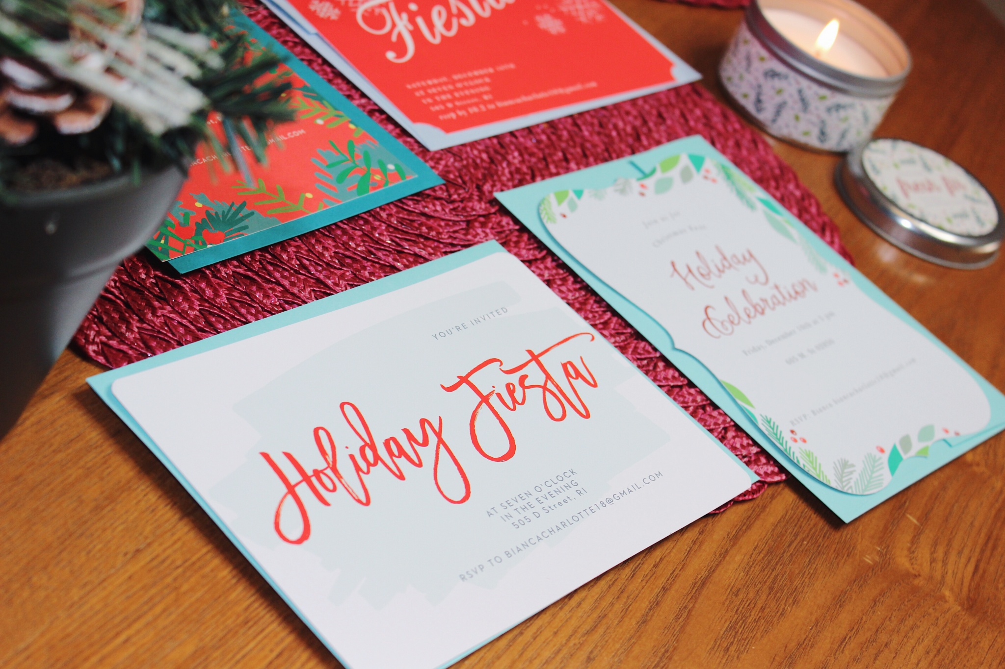 Holiday Party Invitations with Basic Invite! - Charlottebellafab
