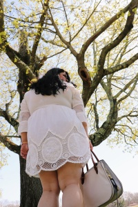 Plus Size White Spring/Summer Dresses