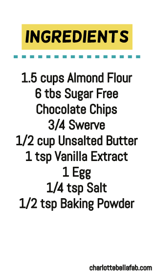 ingredients keto chocolate chip cookies
